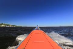 Hydrofoil passenger vessel Stock Photos