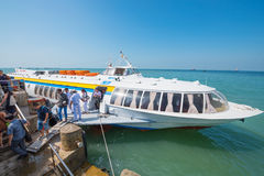 Hydrofoil from Saigon in Vungtau Stock Photography