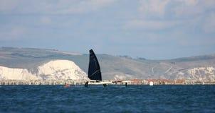 Hydrofoil sailing boat Royalty Free Stock Photos