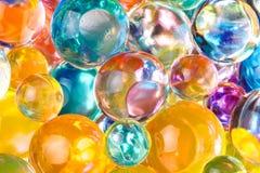 Hydrogel transparent von der unterschiedlichen Farbe Stockfotos