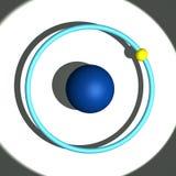 Hydrogen atom. 3d illustration of hydrogen atom Royalty Free Stock Photography