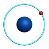 Hydrogen atom on white background. 3d illustration of hydrogen atom on white background Stock Image
