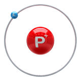 Hydrogen atom on white background Stock Image