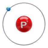 Hydrogen atom on white background. Hydrogen atom on the white background Stock Image