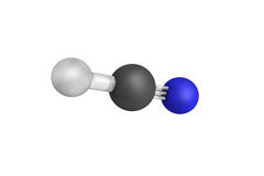 Hydrogen cyanide, produced on an industrial scale and is a highl Royalty Free Stock Image