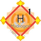 Hydrogen form Periodic Table of Elements V3 royalty free stock image