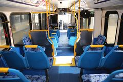 Hydrogen fuel cell bus interior Stock Images