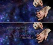 Hydrognomonia z krystalicznym wahadło strony internetowej chodnikowem obrazy royalty free