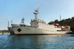 Hydrographic Vessel Stvor in the Bay Black Sea. Stock Photography