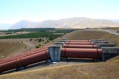 Hydrokrachtcentrale dichtbij Twizel Nieuw Zeeland Stock Foto