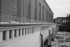 Hydrokraftverk i Imatra arkivfoton