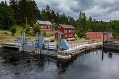 Hydrokraftverk i Werla finland Arkivbild