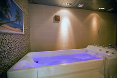 Hydromassage bathtub in cosmetological clinic Stock Images