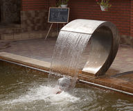 The hydromassage in the pool with thermal waters in Beregovo Royalty Free Stock Images