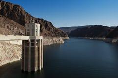 Hydromel de lac et barrage de Hoover Photographie stock libre de droits