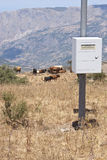 Hydrometeorological station in the mountains Royalty Free Stock Photo