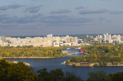 Hydropark and Kiev left side Stock Image