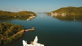 Hydroplan na wody morskiej powierzchni zbiory wideo