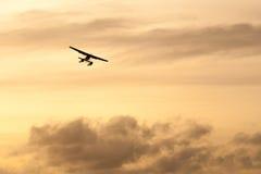 Hydroplan przy zmierzchem obraz stock