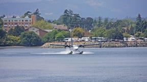 Hydroplan taxiing po lądować Obrazy Stock