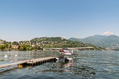 Hydroplane on the Como Lake in the north of Italy Royalty Free Stock Images