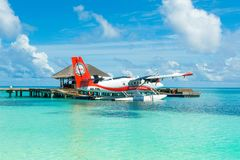 Hydroplane in the crystal clear turquoise water Stock Images