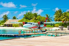 Hydroplane in the crystal clear turquoise water Royalty Free Stock Image