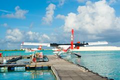 Hydroplane in the crystal clear turquoise water Royalty Free Stock Images