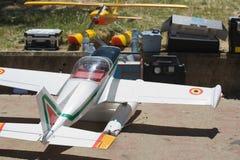 Hydroplane de RC sur la terre photo stock