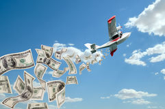Hydroplane and dollars Stock Image