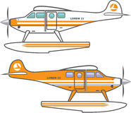 Hydroplane. Floating plane. vector. Simple Royalty Free Stock Images
