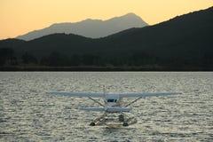 Hydroplane on lake Te Anau Royalty Free Stock Image