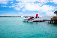 Hydroplane at Maldives island Stock Images