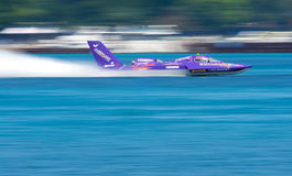 Hydroplane in Motie Stock Foto