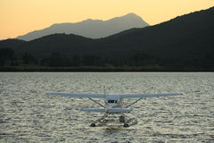 Hydroplane på sjön Te Anau Royaltyfri Bild