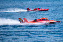 Hydroplane race at Chevrolet Cup Seattle Seafair Stock Photography