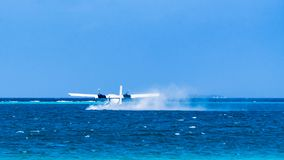 Hydroplane is taking off Royalty Free Stock Image