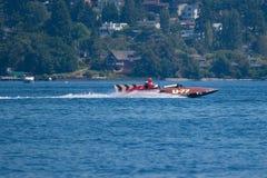 Hydroplane U-77 dell'annata a Seattle Seafair fotografie stock libere da diritti