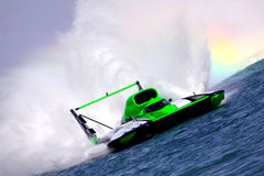 Hydroplane Wake Royalty Free Stock Photos