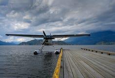 Hydroplane wiążący wodny aerodrom zdjęcie royalty free