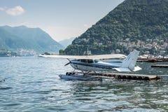 Hydroplanedetail, Foto eingelassenes Como, die Stadt auf dem See herein Lizenzfreie Stockfotografie
