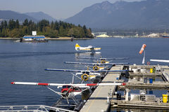 Hydroplanes in Vancouver harbor Royalty Free Stock Photography