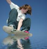 Hydroplaning teenager Fotografia Stock Libera da Diritti
