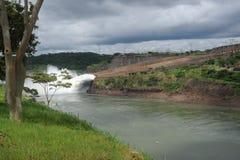 Hydropower Dam of Itaipu. Brasil Stock Photos