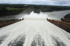 Hydropower Dam of Itaipu. Brasil Royalty Free Stock Image