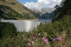Hydropower dam of Luzzone Stock Images