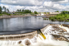 Hydropower Plant in Stornorrfors, Sweden. With a cloudy sky Stock Photography