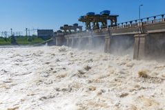 Hydropower plants Stock Images