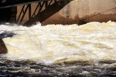 Hydropower production. Royalty Free Stock Images