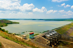 Hydropower reservoirs. In Daklak, Viet Nam royalty free stock image